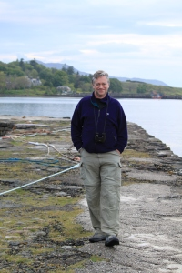 Nick walking on the pier at Broadford