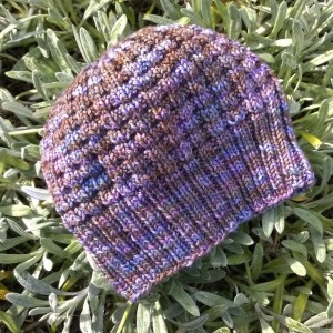 Hotel knitting--finished the waffle hat in San Diego