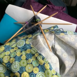 Plane knitting cuff of sweater sleeve