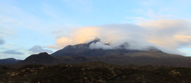 Cloudy Black Cuillins on a chilly day, Isle of Skye, Scotland