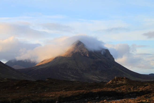 Cloud shroud on Marsco, Isle of Skye, Scotland