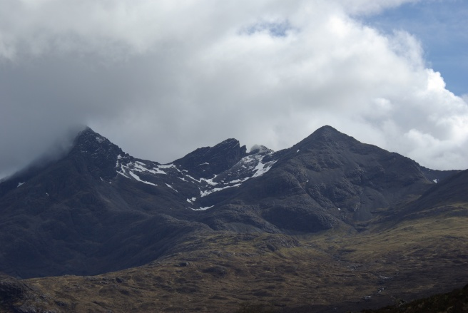 Snow on the Black Cuillins, Isle of Skye, Scotland