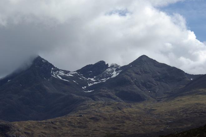 Snow on the Black Cuillins, Isle of Skye, Scotland