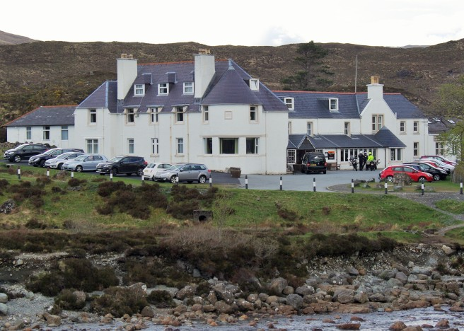The Sligachan Hotel, Isle of Skye. We stayed in the round turret above the sitting room.