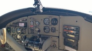 Cockpit of the de  Havilland Otter. I got to ride up front!!