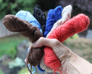 Handful of the Wooly Colors