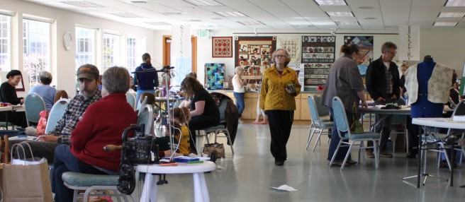 The Fiber Expo at the Mullins Center, Friday Harbor, San Juan Island
