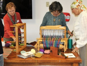 Member of the Orcas Group Teaching Weaving
