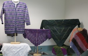 Items knitted by fellow guild members