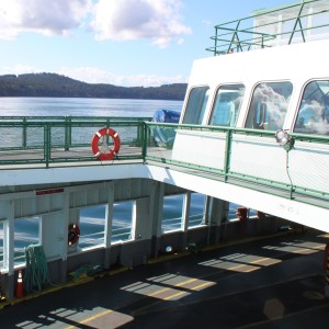 "Riding the Klahowya ""Island Hopper"" ferry from Friday Harbor back to orcas Island"