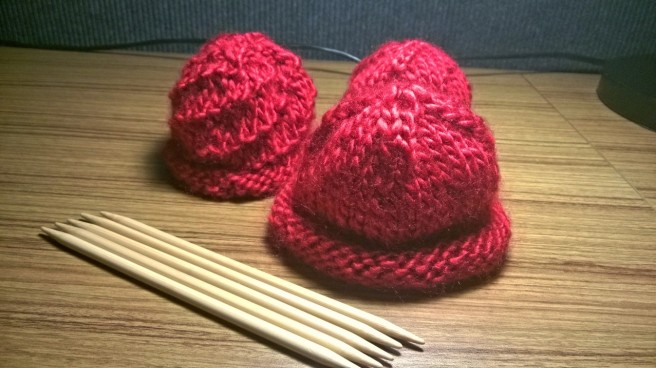 Three hats I knit on the way to NYC