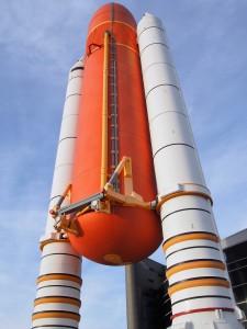 Rocket Booster for Atlantis Shuttle