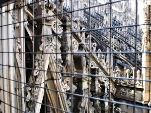 Photo through the scaffolding (church is under repair and cleaning)