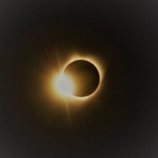 Sun overtaking the moon